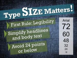 Type size matters