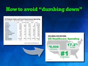 Avoid dumbing down